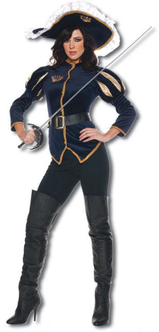 Lady Musketier Premium Kostüm Gr. M