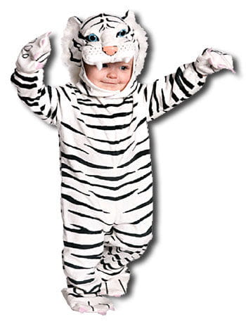 Cuddly White Tiger Toddler Costume XL