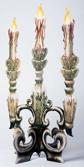 Bloody Three Arm Candlelabra