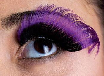 Sprung eyelashes black / purple