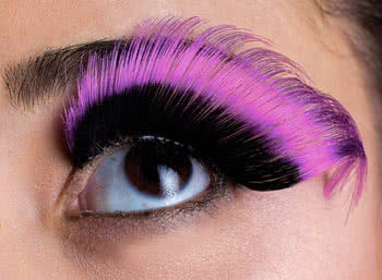 Sprung Eyelashes black / pink