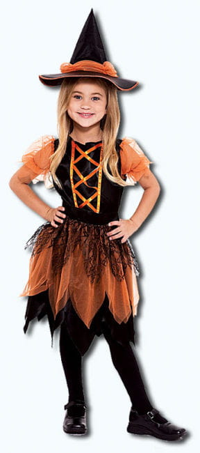 Pumpkin Patch Witch Child Costume Size L
