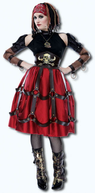 Apocalyptische Piraten Maid Kostüm M