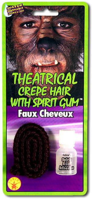 Theater Haar dunkelbraun mit Hautkleber