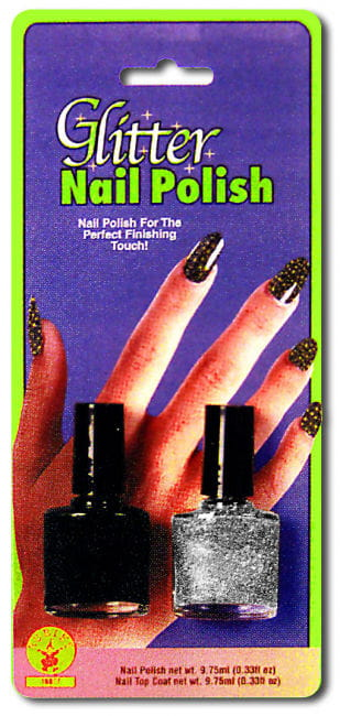 Black Silver Glitter Nail Polish