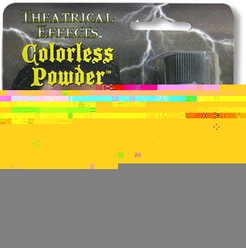 Colorless fixing powder