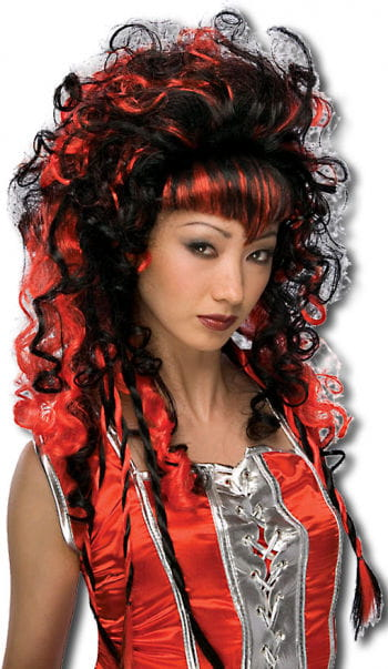 Vamp Wig black and red