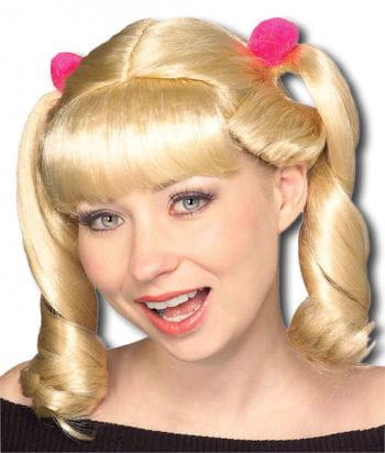 Cheerleader Perücke blond
