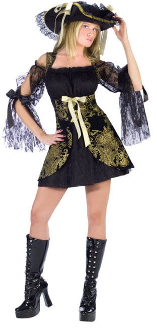 Pirate Bride Gold Brocade Costume Size S
