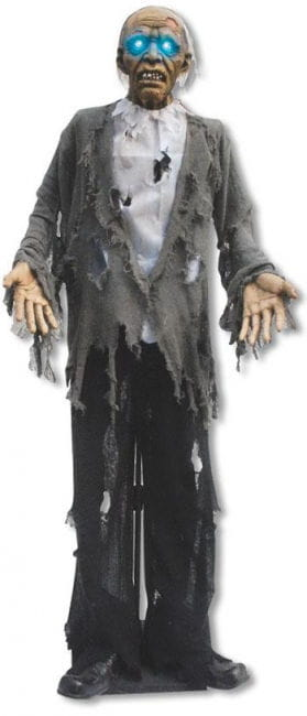 Zombie Standfigur mit Leuchtaugen