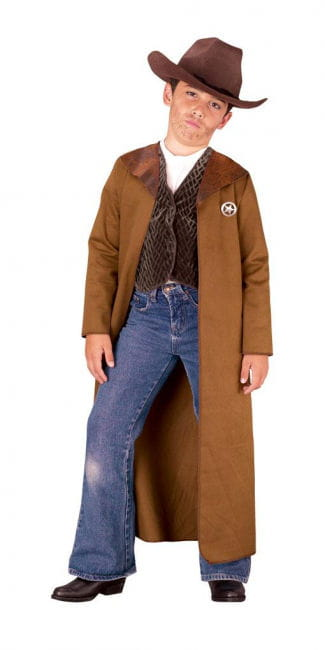 Western Sheriff Child Costume L