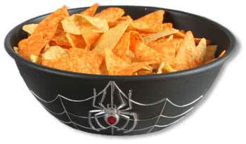 Spiderweb Snack Bowl Black
