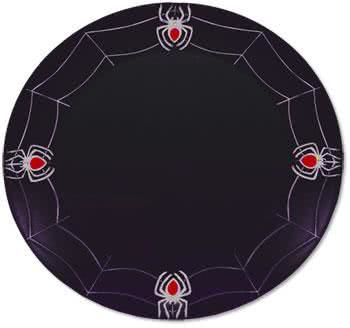 Cobwebs Plate with black spiders