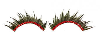 Eyelashes with Red Rhinestones