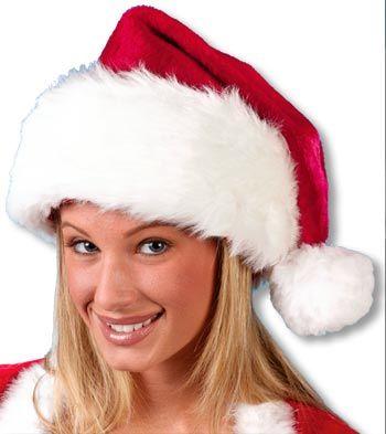 Plush Santa Hat DLX