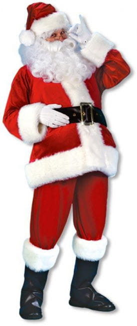 Velvet Santa Costume DLX