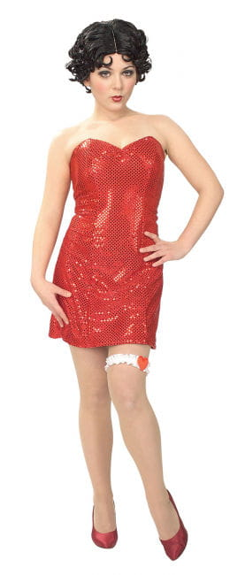 Betty Boop Glitter Mini Dress Size M