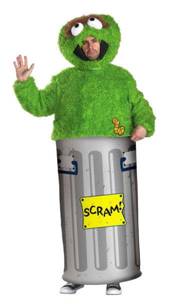 Sesamstrasse Oscar Kostüm XL