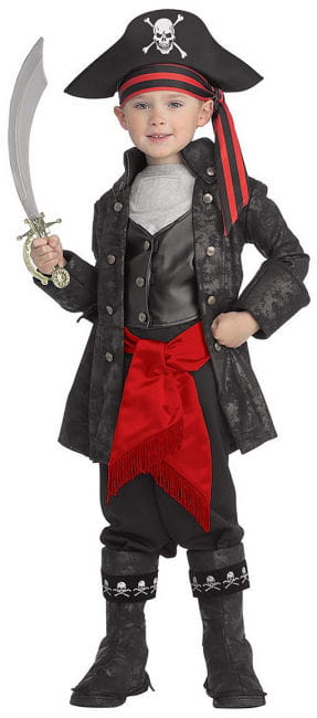 Captain Black Pirate Child Costume M