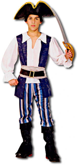 High Seas Pirate Child Costume Size L