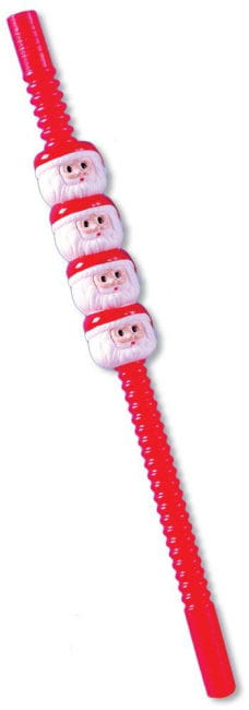 Santa Claus drinking straws 5 pcs