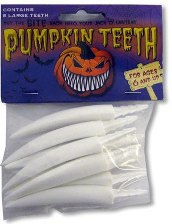 Pumpkin Teeth Big White