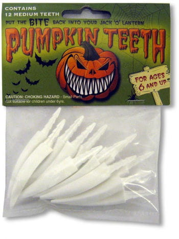 Pumpkin Teeth Medium White