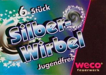 Silberwirbel Bodenkreisel 6 Stück