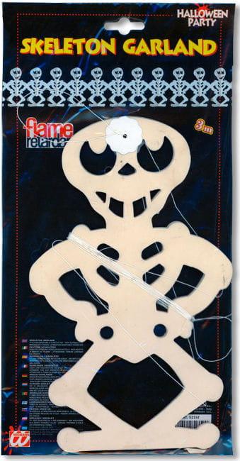 Grinsende Skelett Girlande 300 cm