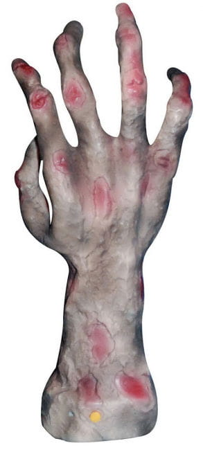 Burned, grapschende Zombie Hand