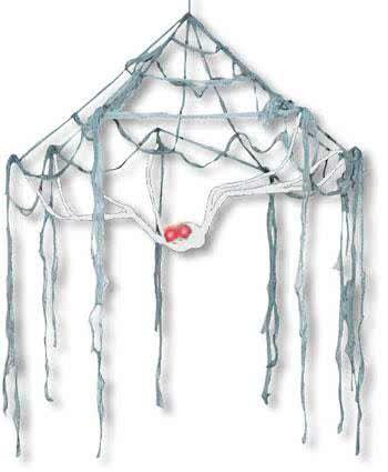 Cobweb Canopy White Spider