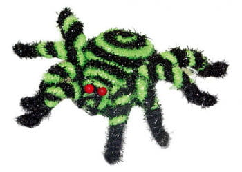 Little Glittering Spider Black and Green