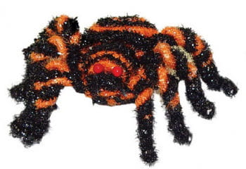 Small Glitter spider black orange