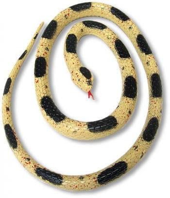 Gummi Schlange beige 90 cm