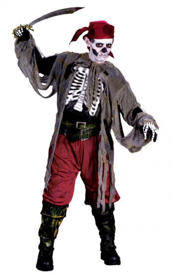 3D Zombie Pirate Child Costume. L
