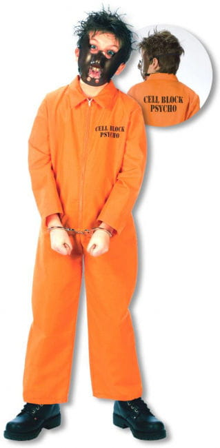 Convict Costume Kids M