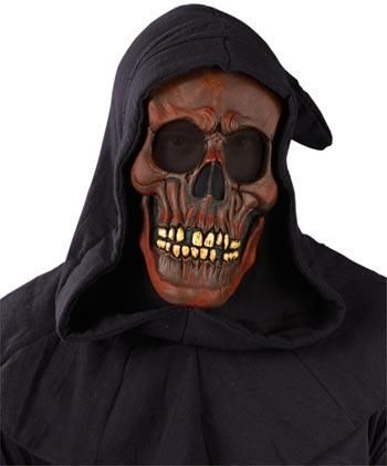Hooded Skull Mask red