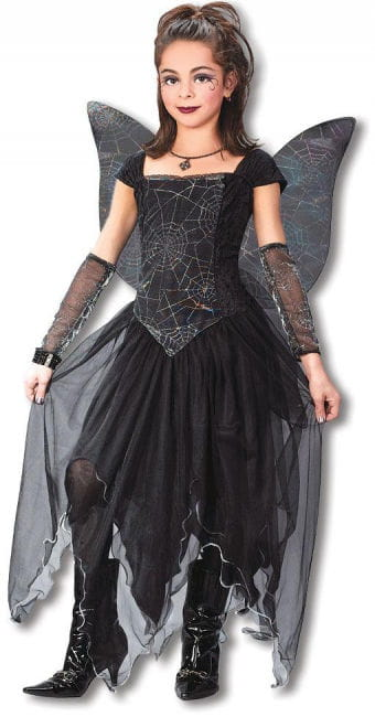 Gothic Fairy Princess Kids Costume L
