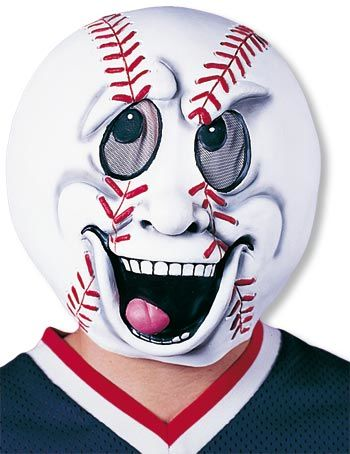 Baseball fan carnival mask