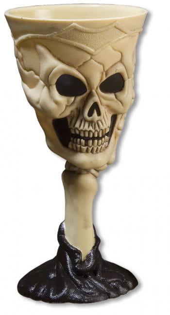 Halloween Skull Kelch Beige