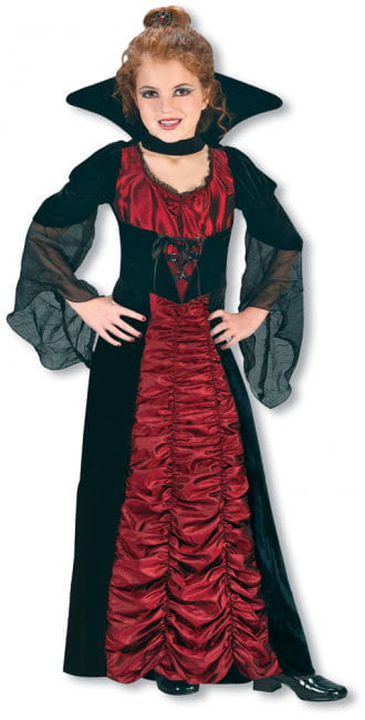 Taffeta Vampiress Witch Child Costume Size S