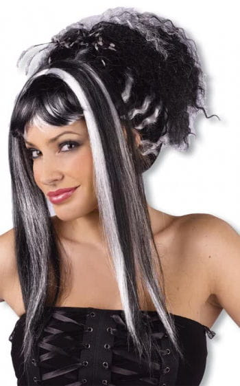 Punk Vampire Wig white black