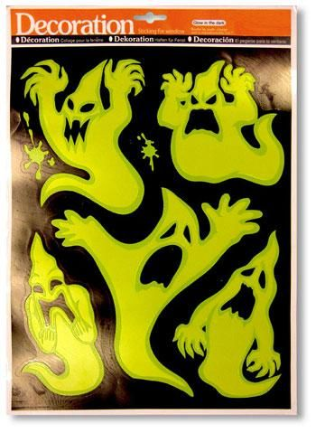 Glow in the Dark Ghost Stickers