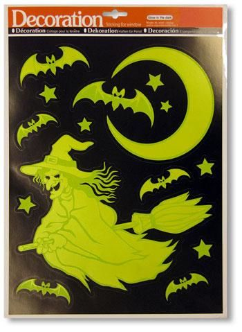 Glow in the Dark Witch Stickers