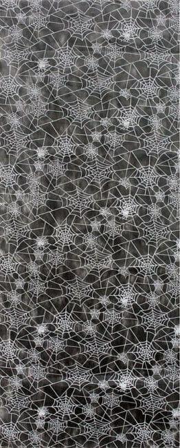Cobwebs decoration fabric black