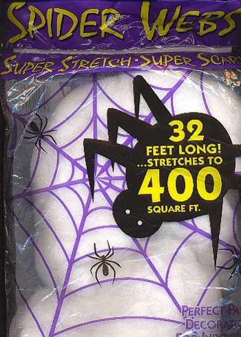Spinnennetz weiß Extra Large 120gr.