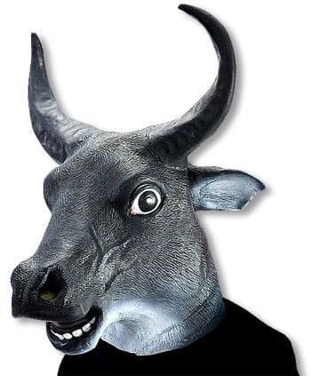 Stier Maske aus Latex