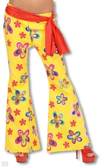 Yellow Hippie pant with flowers
