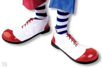 Clown Shoes White and Red