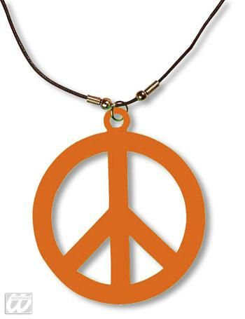 Kunststoff Hippie Kette orange
